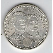 Argentvs * España Moneda De Plata 2004 12 Euro - Boda Real