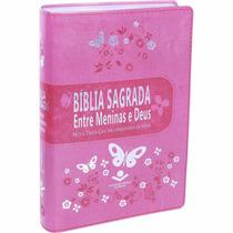 Bíblia Sagrada Entre Meninas E Deus + 2 Bíblias Do Bebê