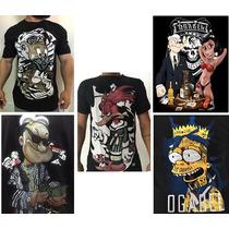 Kit 05 Camisa Camisetas Personalizadas De Desenho Animado