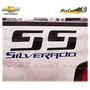 Sticker Fibra Carbon Pick Up Chevrolet Ss Silverado Batea