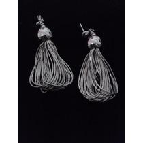 Ana Baez Joyeria® - Aretes Plata Líquida .925