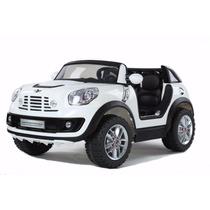 Mini Cooper 12v Doble 2 Niños A Bateria+control+mp3 Palermo