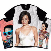Camiseta Demi Lovato Confident Tatuagem Pop Usa Unissex 2017