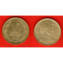 Moeda Chile 10 Pesos 2003 21mm (152m5)
