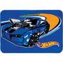 Tapete Infantil Hotwheels Fire Azul 80x120 Cm Jolitex!