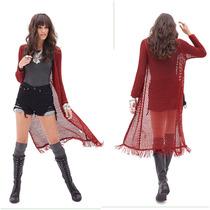 Sweater Cardigan Importado Forever 21 Crochet Largo Trendy