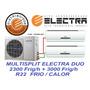 Aire Acondicionado Multisplit Electra Duo 2250-3000 Frig F/c