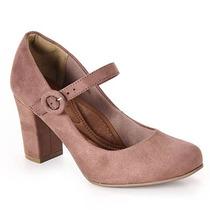 Sapato Boneca Salto Feminino Bebecê - Taupe