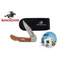 Navaja Winchester By Gerber Madera Con Funda Y Envío Gratis!