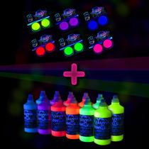 Promo 12 Maquillajes Fluo + 12 Botellitas Pintura Fluo !!!