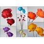 Amapolas Ramos De 15 Flores Grandes En Foami Varios Colores
