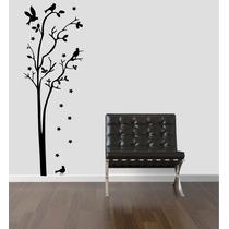 Adesivo Decorativo Parede Árvore Pássaro Estrela Galho Folha