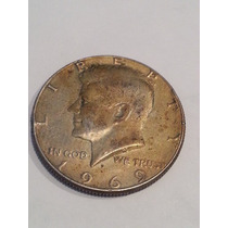 Moneda Estados Unidos Usa 1/2 Dolar 1969 D De Plata