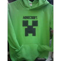 Polerones Minecraft Bordados Con Aplicacion