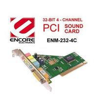 Placa De Sonido Pci Encore Enm232-4ctv - Conector Juegos