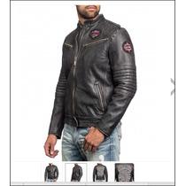 Chaqueta De Cuero Affilction, Harley Talla L M Xl
