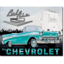 Poster Lamina Anuncio Retro Vintage Chevrolet Bel Air 1957 C