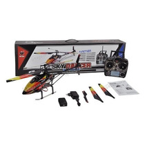 Helicoptero V913 Completo 70cm Controle 2.4ghz 4 Ch Wltoys