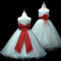 Vestido Infantil Festa Daminha Casamento Longo Var Cores