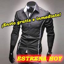 Camisas Hombre,camisa Vestir Caballero, Slim Fit, Ropa Sexy