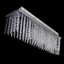 Lustre De Cristal Plafon Retangular 60x16x16cm - Jp/tokio/60