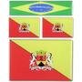 Kit 3 Bandeiras Resinadas-sorocaba -1de 6x4 2 De 2,5x1,5 Cm