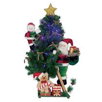 Árvore Natal Com 15 Led Enfeitada 101,6cm Importada Linda!