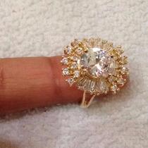 Anel Dourado Redondo Com Brilho - Semi-jóia Banhada Ouro 18k