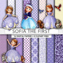 Kit Imprimible Pack Fondos Princesa Sofia Disney 55 Clipart