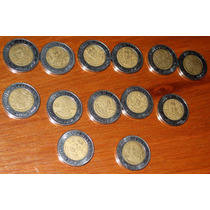 10 Monedas 5 Pesos Revolucion Independencia Repetidas Cinco