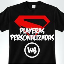 Playeras Personalizadas Estampadas Serigrafía Superheroes.