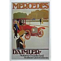 Lienzo Tela Poster Mercedes Daimler Benz Alemania 73x50cm