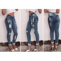 Calça Jeans Feminina - Calça Rasgada Skinny - Destroyed
