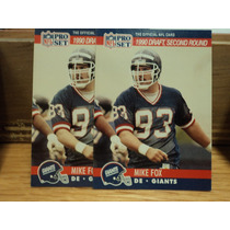 Nfl Fan Giant Tarjeta Dsr Mike Fox Rc Nva