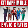 Kit Imprimible One Direction Diseña Invitaciones Y Tarjetas