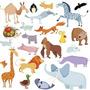 Animales - Dibujos Infantiles - Lamina 30 X 30 Cm.