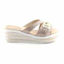 Sandalia Cuero Mujer Cavatini Chinela Zapato - Mcch26035 Pt