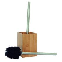 Escova Para Lavar Vaso Sanitário Com Suporte Bambu