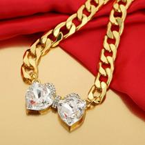 Collar Cristal Swarovski Original Certificado Moño Oro 18k L