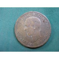 Moneda 10 Lepta 1869 Bb, Grecia Km# 43