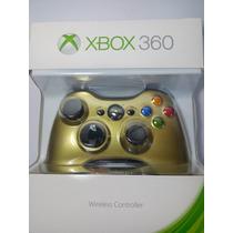 Controle Turbo Rapid - Fire Xbox 360-30 Modos Tampa Dourada