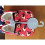 Zapatillas Minie Mouse Rojas Rosadas Baby Club Zapatos Lindo