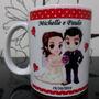Caneca Personalizada Para Casamento Porcelana + Brinde