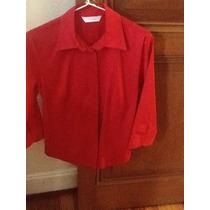 Camisa Roja Manga Pasando El Codo.