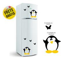 Adesivo Decorativo Geladeira Pinguim Parede Cozinha Freezer