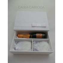 Caixa Baby Chandon Ou Mini Vinho Forrada Com Tecido (mdf)