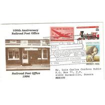 Sobre Estados Unidos Tren Estacion Postal Ferroviaria