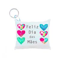 50 Lembrancinha Personalizada Dia Das Mães Chaveiro Almofada