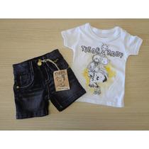 Conjunto Tigor T Tigre Baby Camiseta E Bermuda Pb/3p