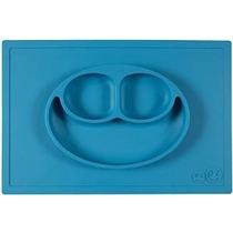 Ezpz Feliz Mat (azul) - Una Pieza Mantel + Placa De Silicona